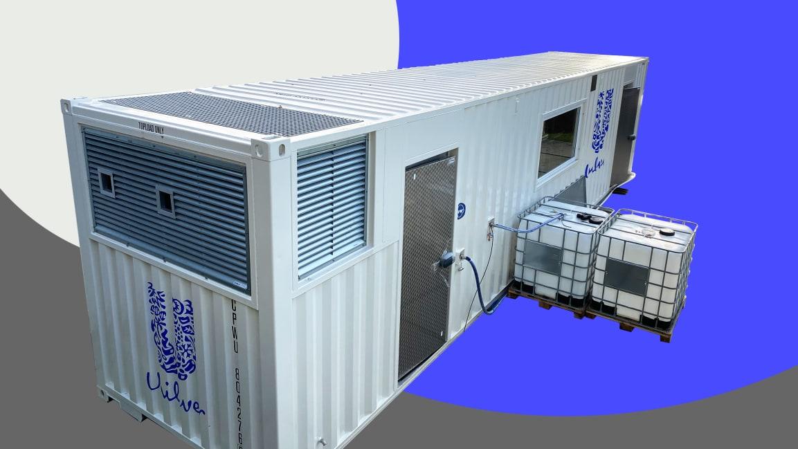 Unilever тестирует концепцию мобильных фабрик размером с транспортный контейнер