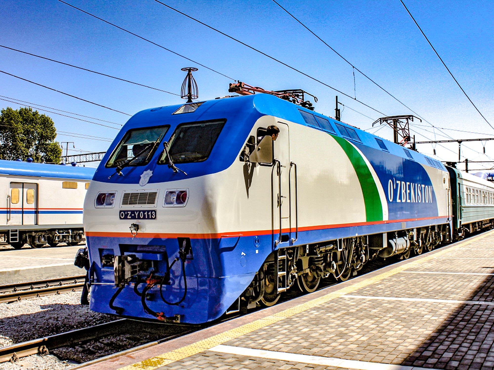 Запускаются новые железнодорожные рейсы по Узбекистану