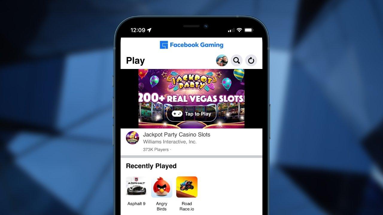 Facebook запустила облачные игры в Apple через веб-приложение