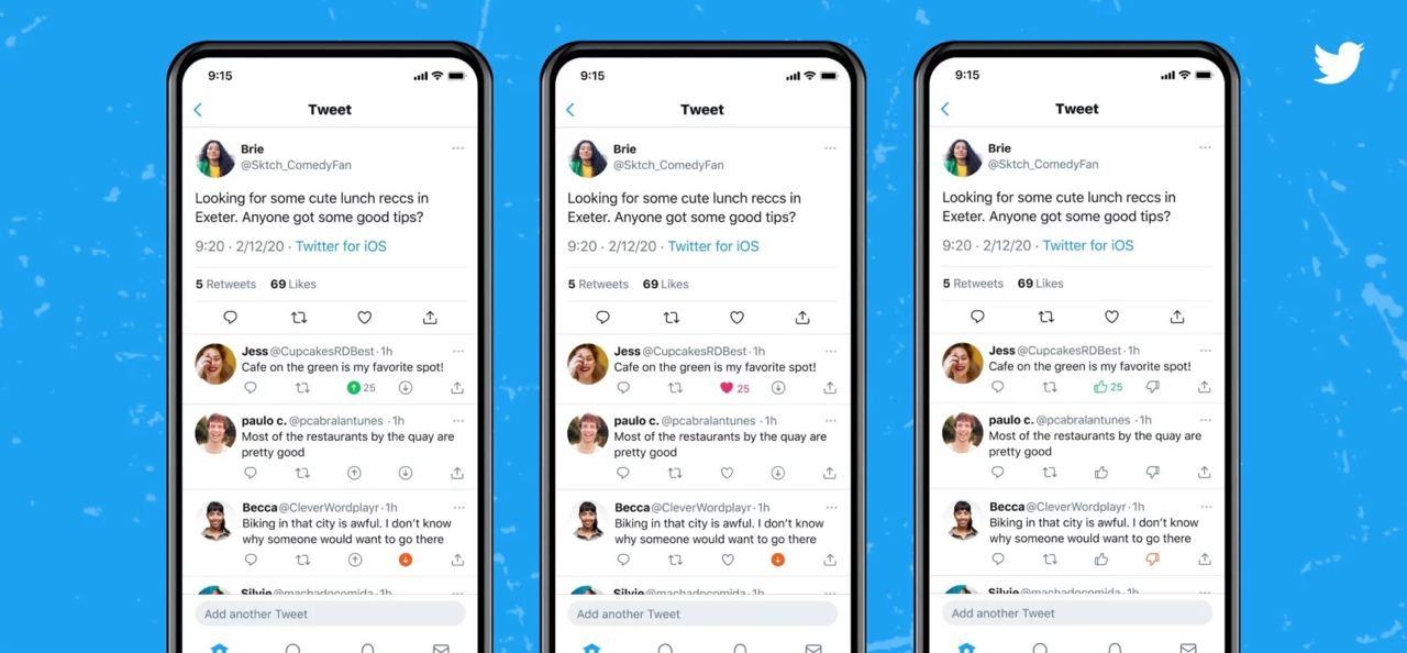 Twitter начала тестировать кнопку дизлайка в ответах пользователей