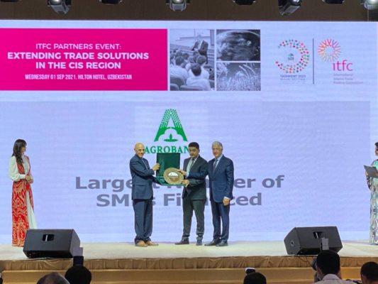 АКБ «Агробанк» признан «Самым активным банком в финансировании проектов малого и среднего бизнеса» по версии ITFC